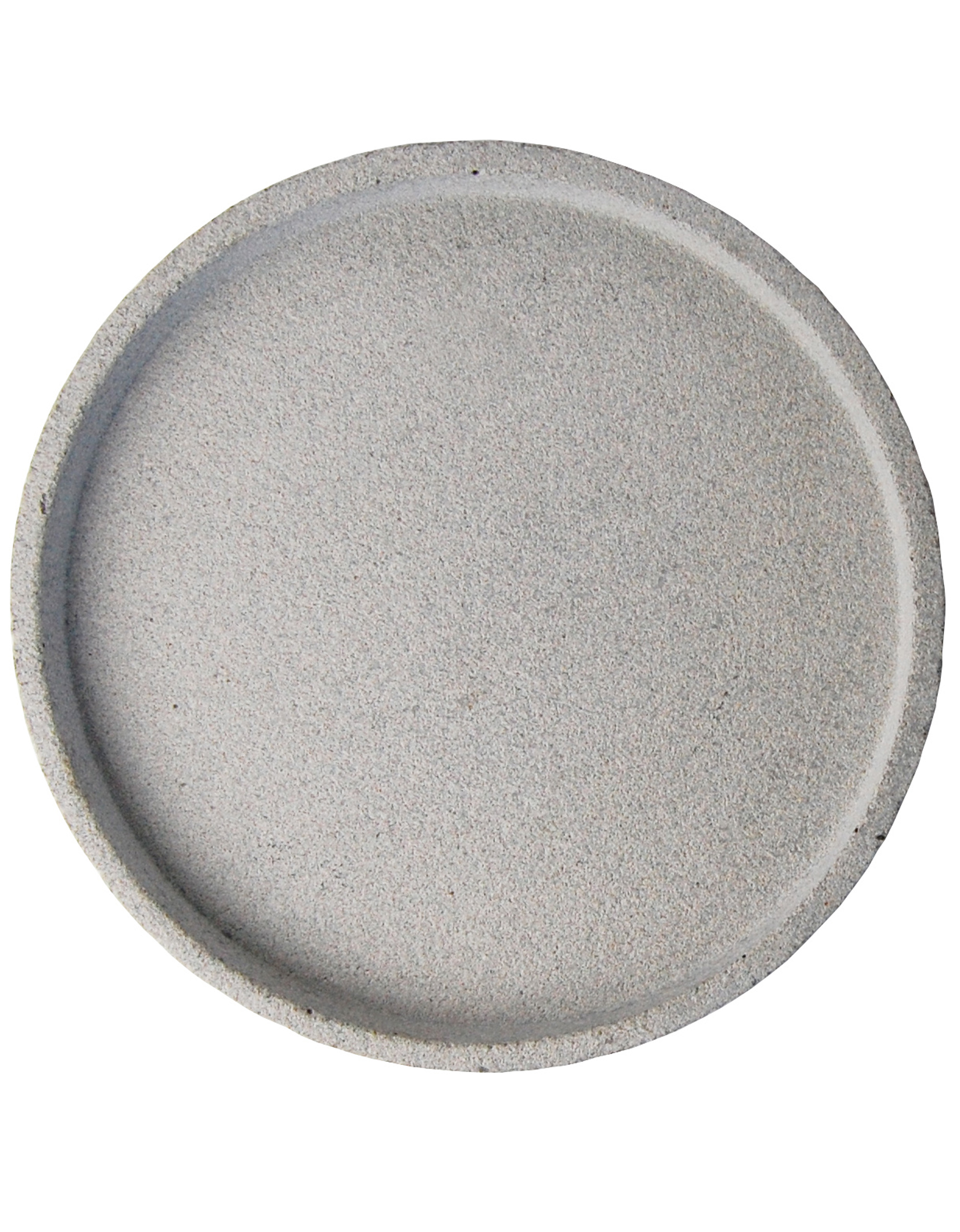 ZAKKIA - Concrete Round Tray - Natural