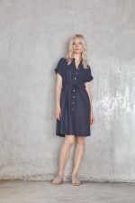 Rose Dress Navy