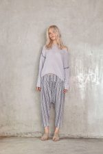 Russo Knit Jumper Grey and Lina Pant Ziggy navy1