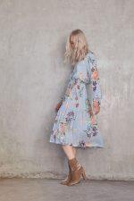 Turlington Floral Dress Blue Floral2