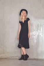 Ira Embroided Dress Black