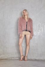 Phoebe Mongolian Jacket Musk and Vika Leather Short Natural