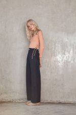 Santos Top Peach and Rio Linen Pant Black1