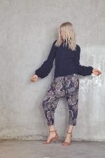 Filigree Knit Navy and Lina Pant Navy Paisley2