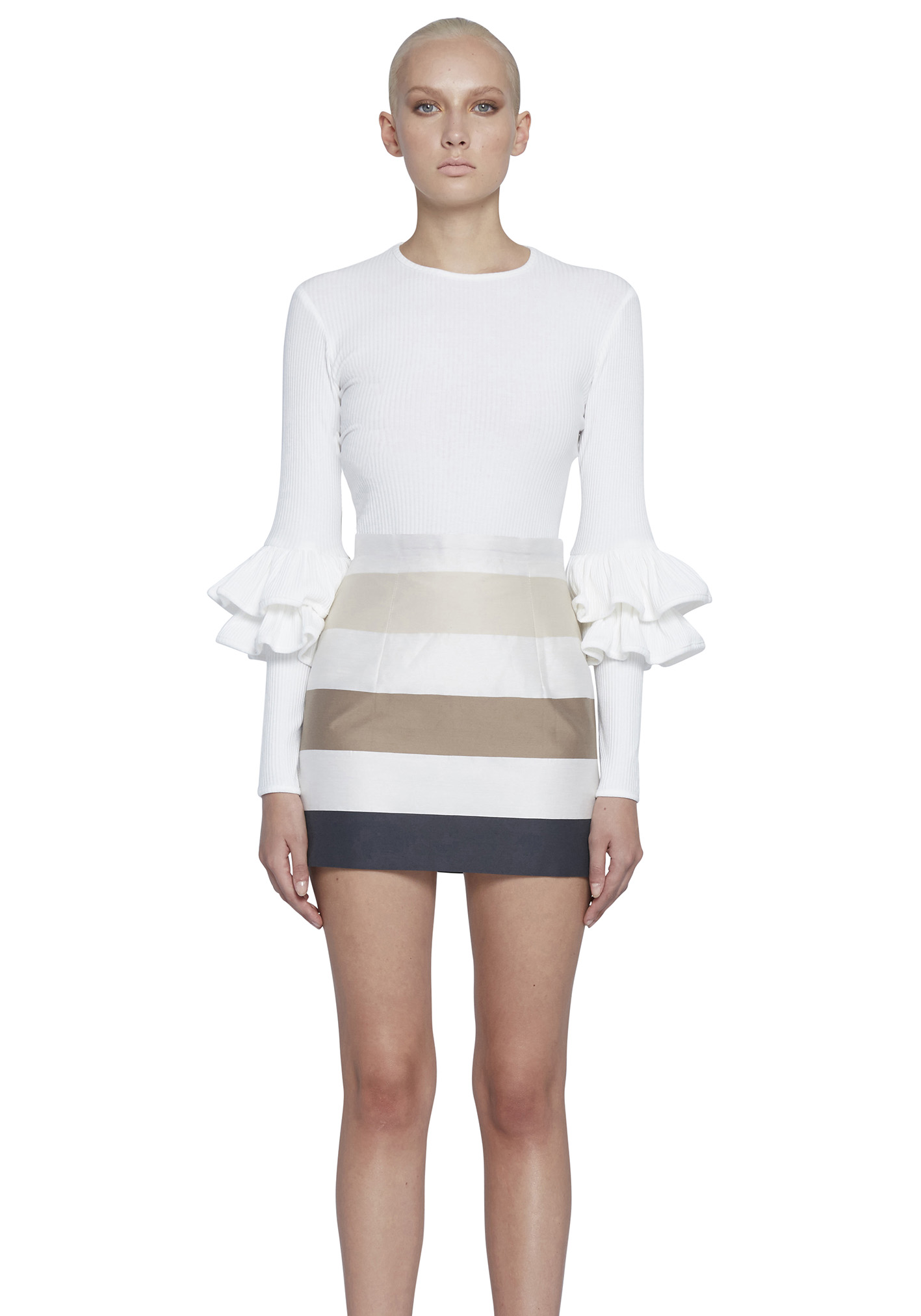 New-BY-JOHNNY-Ribbed-Double-Frill-Sweater-Ivory