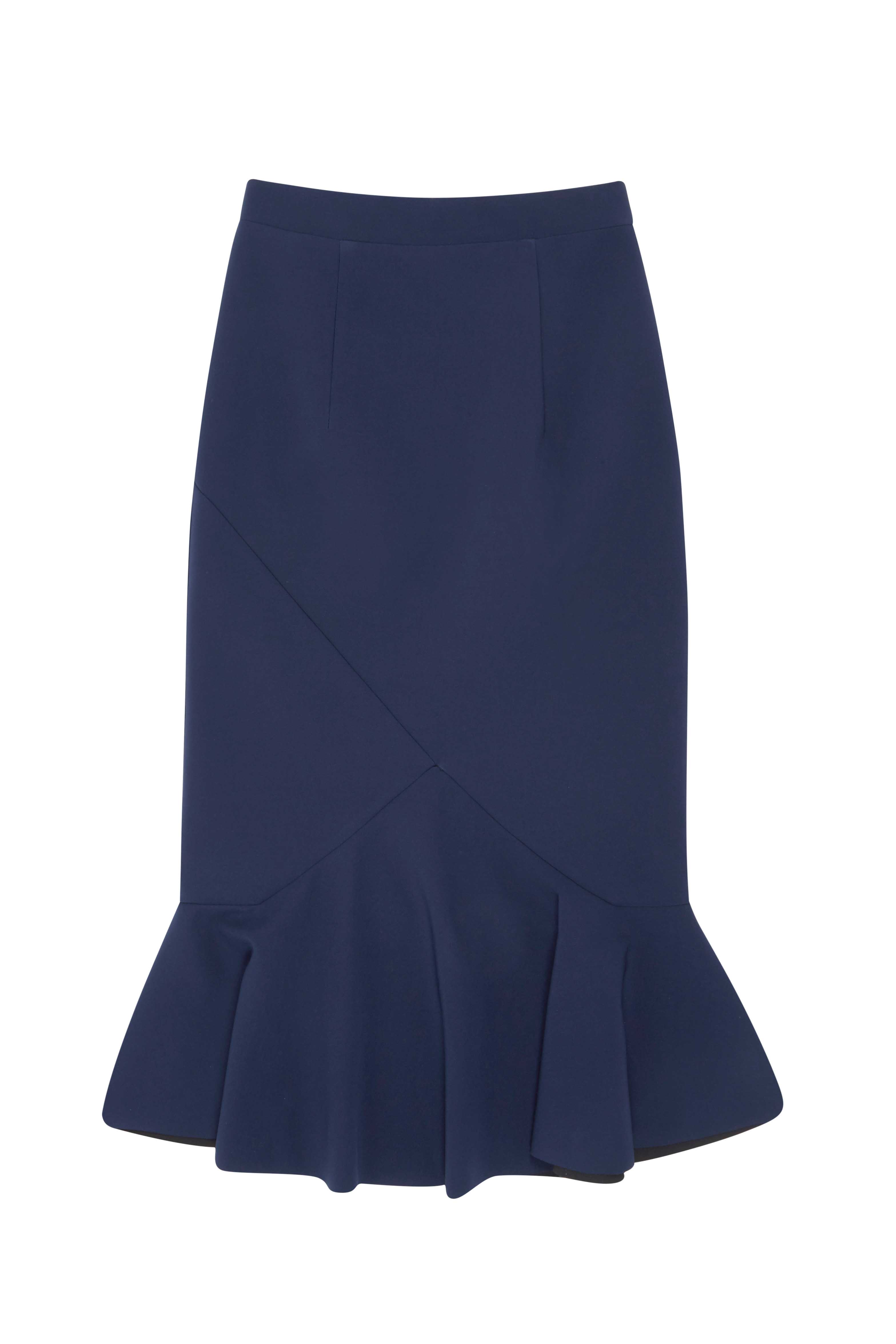 by johnny v flare pencil skirt royal navy