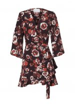 PENINSULA WRAP DRESS-FLEETWOOD