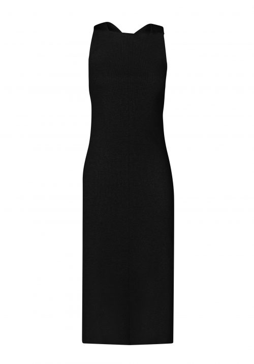 BELLINI CROSS BACK DRESS-BLACK