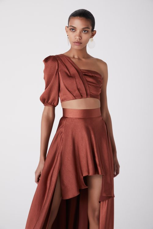 AT171251_FOR THE LOVE SKIRT_RUST_CLOSE UP