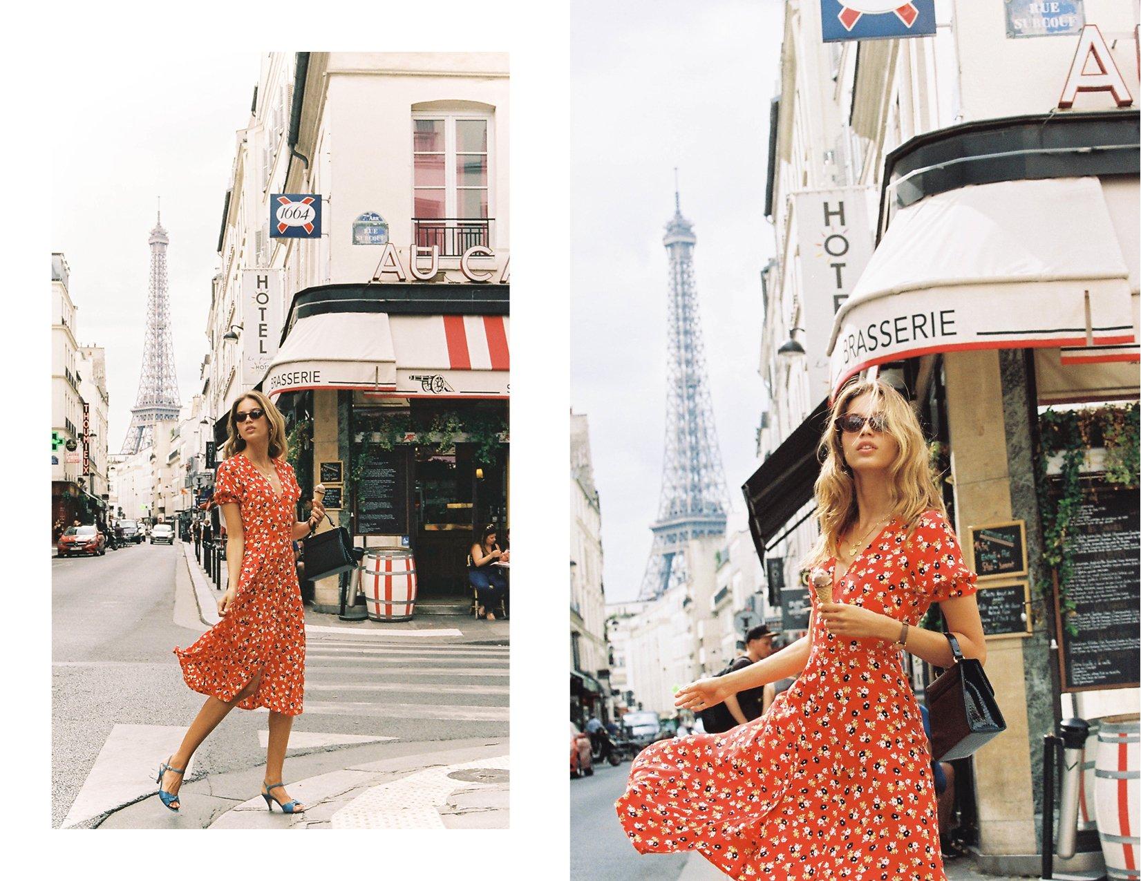 cd05855095e FAITHFULL THE BRAND Ari Midi Dress - Jasmine Floral Print - Red -